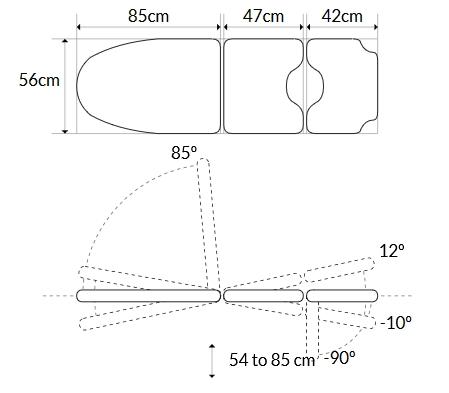 schemat fotela ginekologicznego 1380
