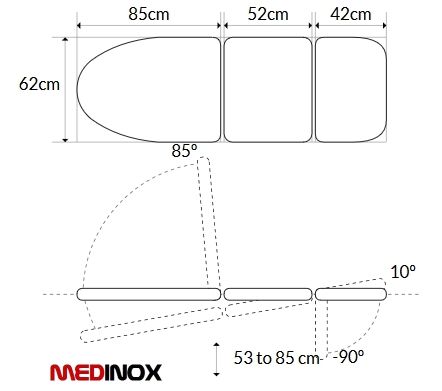 schemat fotela okulistycznego 1140