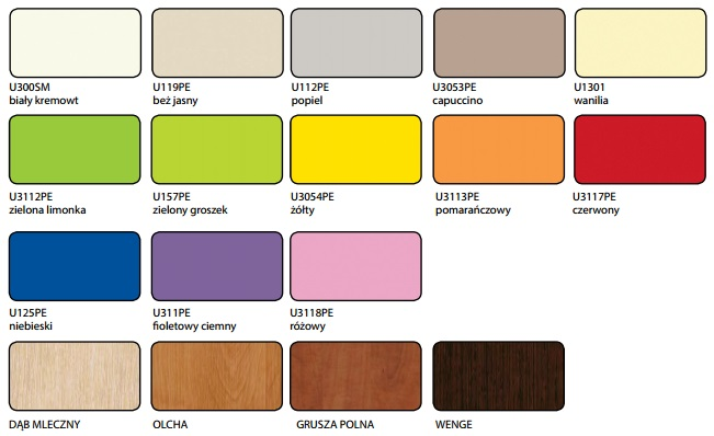 Kolory płyt meblowych