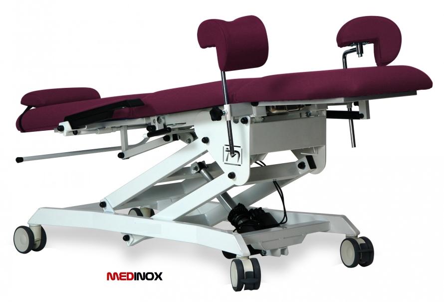 Fotel ginekologiczny z elektrycznie regulowana wysokością 1380