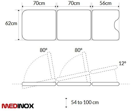 stół ginekologiczny wymiary